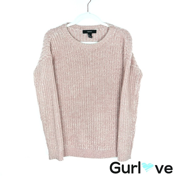 Forever 21 Sweaters - Forever 21 Old Pink Knit Chunky Sweater Size S